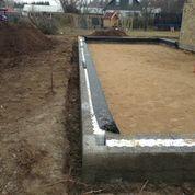Nedgravning af kloakrør, planering med stabilgrus